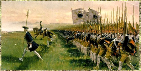 Im Siebenjhrigen Krieg 1756 1763 Sterreichische Dragoner Preussische Husaren