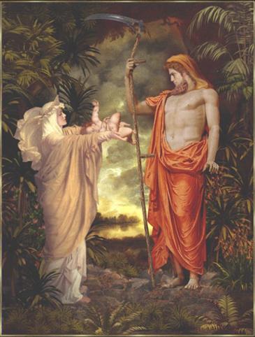 götter rhea und kronos und aufgaben