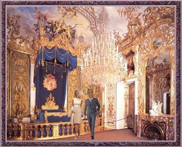 Lena Und Ich Im Schloss Linderhof Ludwig Xiv Schlafzimmer