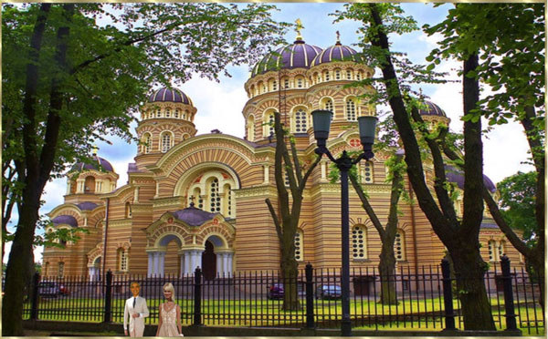 Die Orthodoxe Kathedrale in Riga